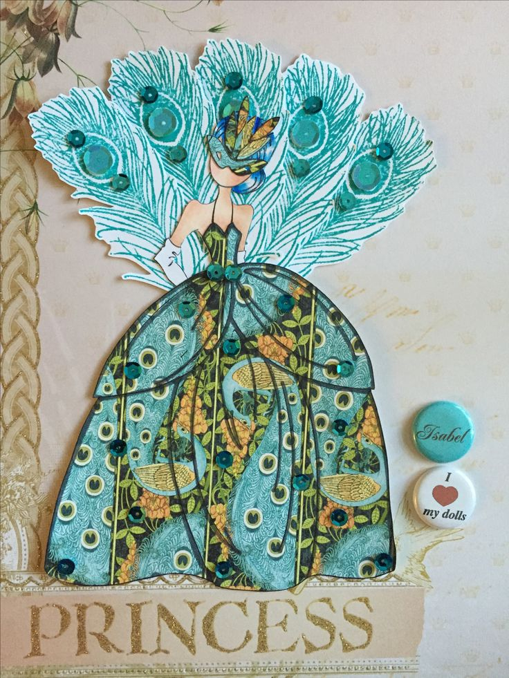 Peacock Princess Julie Nutting Doll Stamps Prima Dolls Paper