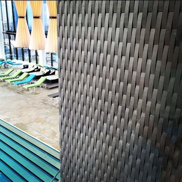 Pool area near to the entrance of the Sky bar 28. Made by aluminum. It's part of the decoration.
