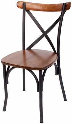 henry metal cross back side chair autumn ash wood seat js88cash sb