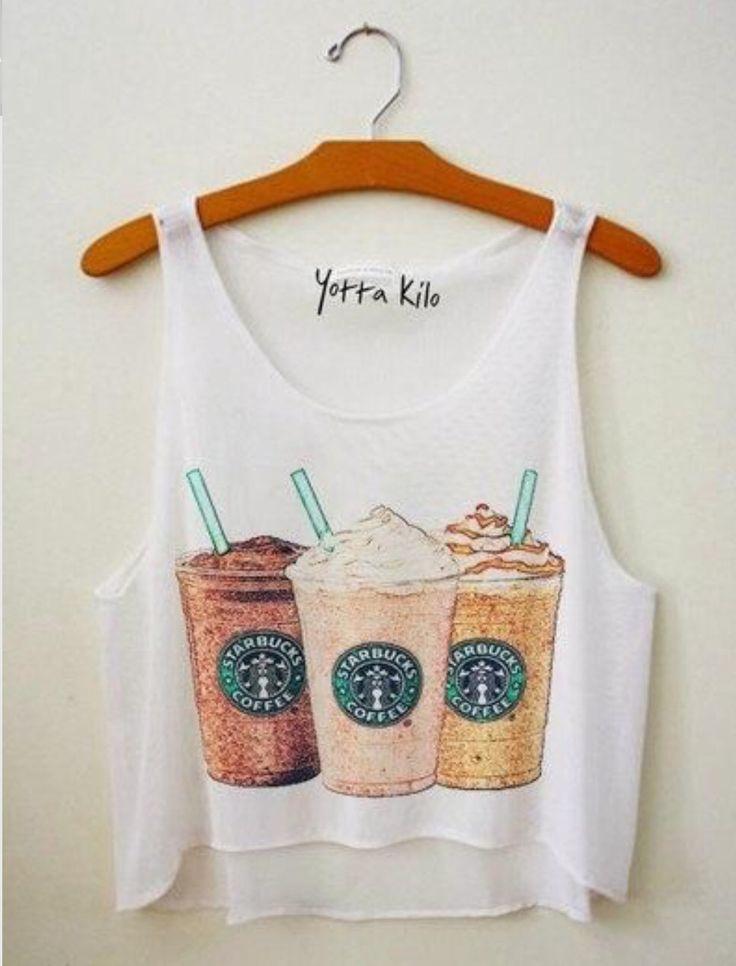 Starbucks crop top
