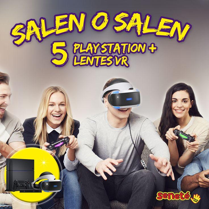 Feliz día del niño! Para los que seguimos soñando 😊🌈☁️ Este domingo SALEN o SALEN 5 consolas PS4 + Lentes de realidad virtual 😎👾  ¿Ya tenés tu cartón? #senete #cheporemoi