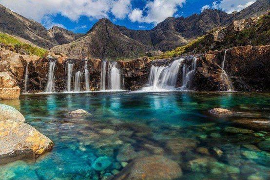 Fairy Pools at the Top, Isle of Skye-Scotland - 101 most beautiful places to visit before you die part 3