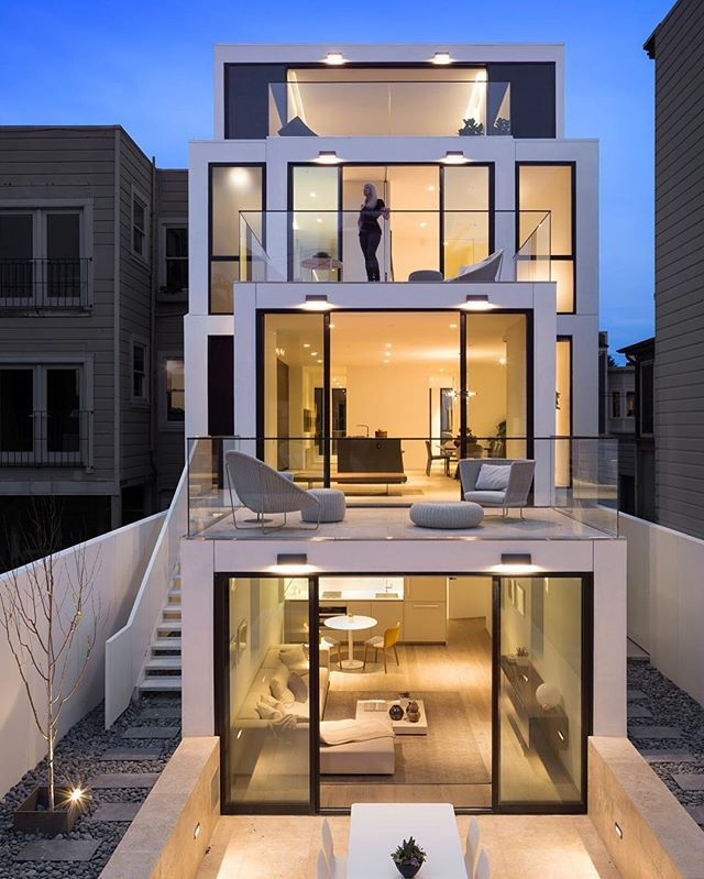 Who wants this home? 50 Oakwood by Stanley Saitowitz of Natoma Architects Located in San Francisco, California © Jacob Elliott #restlessarch insta
