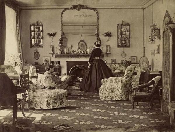 "1865 photo called ""Interieur"" taken by Lady Frances Jocelyn- inside victorian homes"