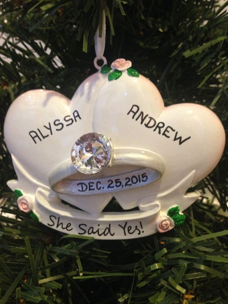 15 best Newlywed + Newly Engaged Christmas Ornaments images on ...