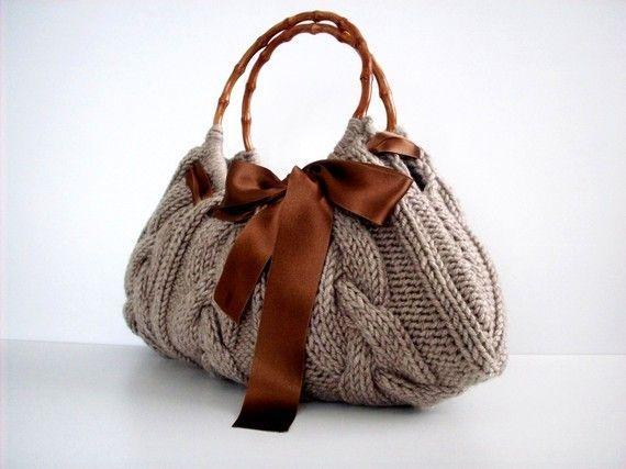 Knit Handbag NzLbags tote Handmade  Handbag  Shoulder by NzLbags