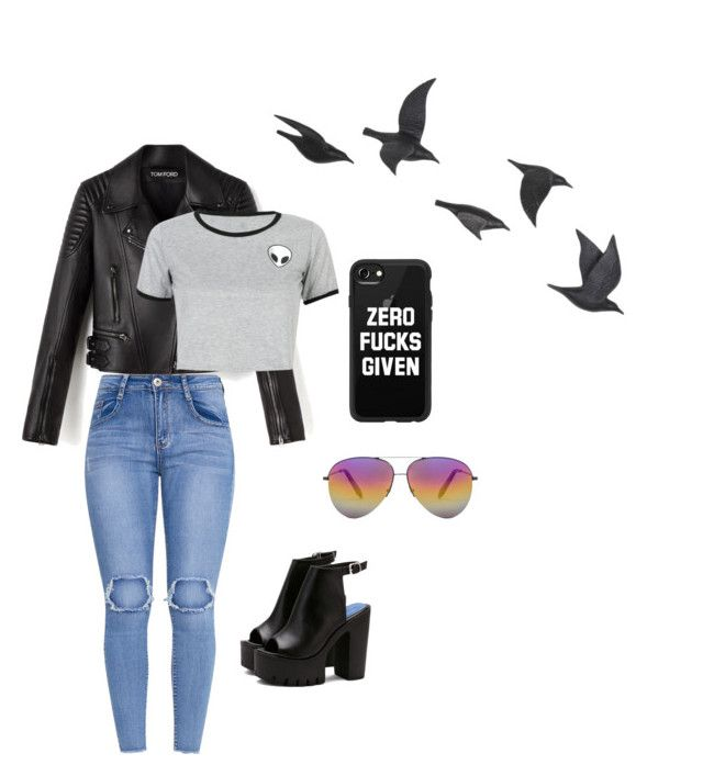 """""""leather-nasty🖤"""" by natasyanab on Polyvore featuring Victoria Beckham, WithChic, Casetify and Jayson Home"""