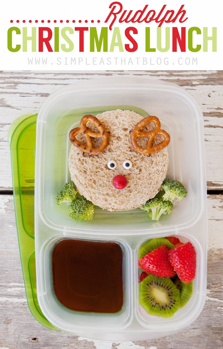 simple as that: Rudolph Christmas Lunch for Kids We love fun themes and anything that makes magic at home!