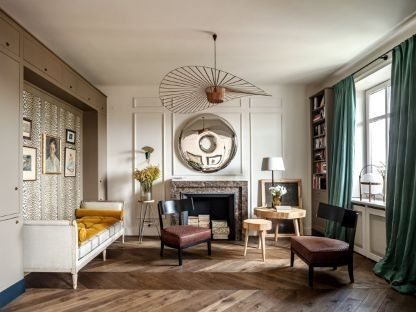 House tour: a 1930s Parisian-style apartment in Warsaw: In the living area…