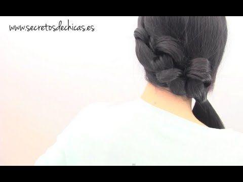 Peinado de lado con nudos