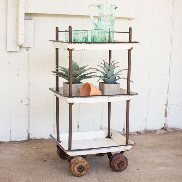 Use one as an outdoor potting station.