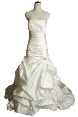 Gorgeous Bridal Strapless Mermaid Satin Bridal Gowns Wedding Dresses Long White