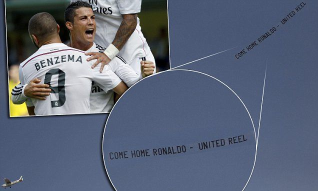 United fans fly banner over Real Madrid game to tempt Ronaldo back