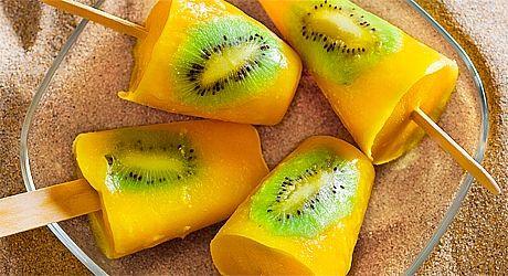 Mango, Pineapple & Kiwi Icy Poles