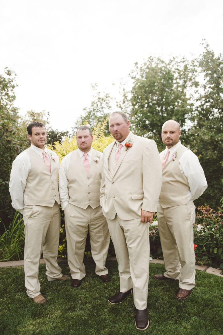 Tan Vested Groomsmen Men S Wearhouse My Wedding Pinterest Weddings