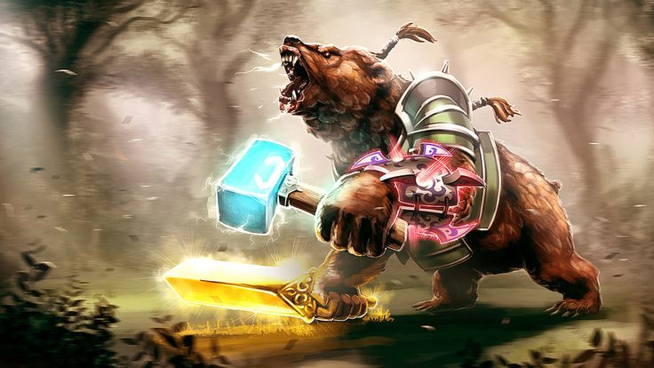 warrior, bear, valve, Lone druid, dota 2, Lone Druid Dota 2 Game Bear
