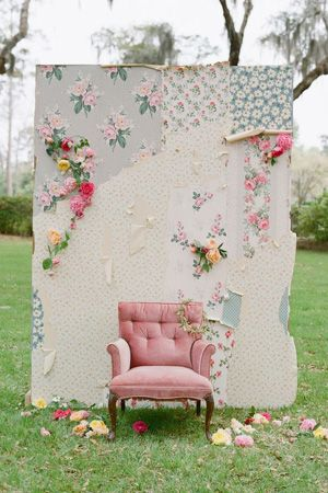 build a wedding themed photo background, cute alternative to photo booth