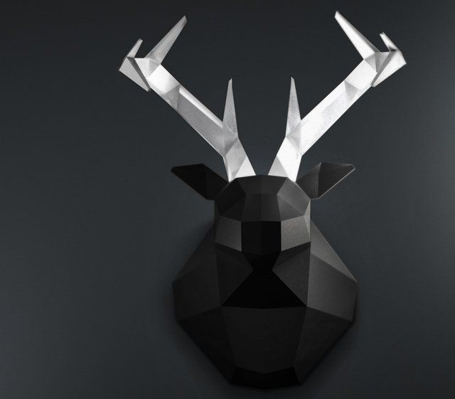 #Ciervo geometrico    #Cabezas_ciervo #Deer_Deco
