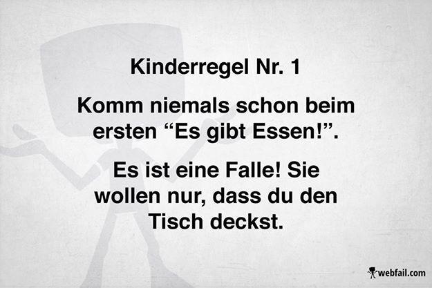 Kinderregel Nr. 1