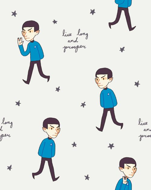 genicetea:  spock wallpaper tile
