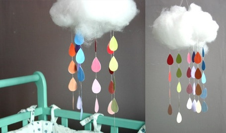 I could see some of my crafty #teacher friends making a few of these #cloud mobiles to suspend in their classrooms. It would make a great companion to a #weather unit.