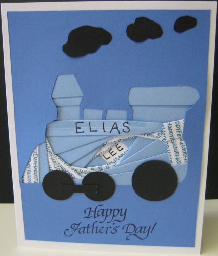 father's day origami card