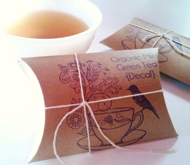 tea party bridal shower favors bird on tea cup loose artisan tea in ecofriendly tea bags