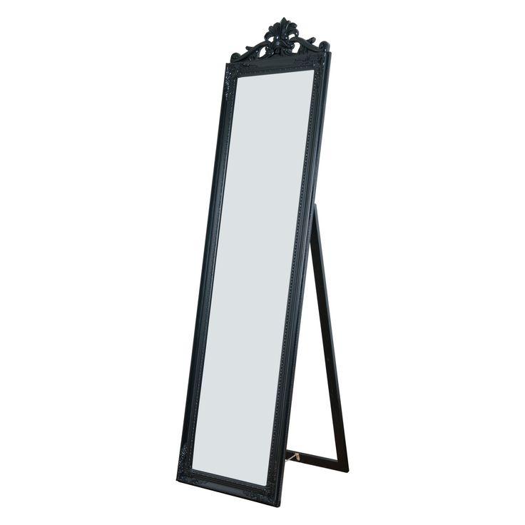 Milton Green Stars Gisela Full Length Mirror - 17.75W x 67H in. - 7056-BLACK