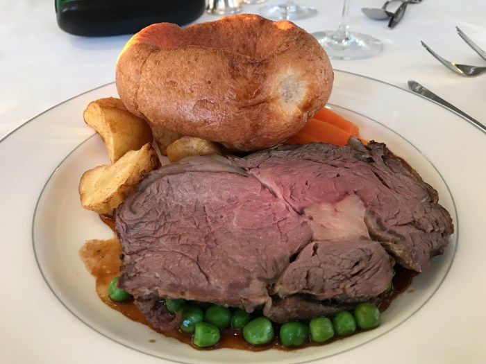 Roast beef on Fred Olsen cruise Line http://www.tipsfortravellers.com/fred-olsen-cruise-review/
