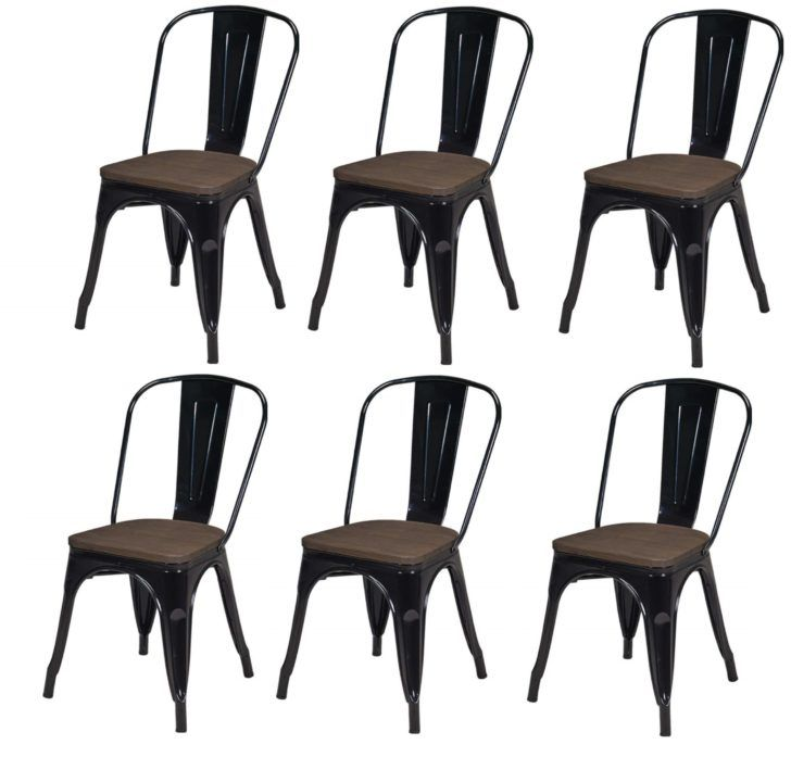 Interior Design Lot De 6 Chaises Lot Chaises Salle A Manger Style Industriel Factory Metal Metal No Cool Furniture Transforming Furniture Reupholster Furniture