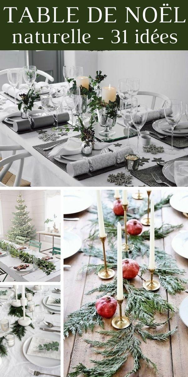 Decoration Naturelle Pour La Table De Noel Les Meilleures