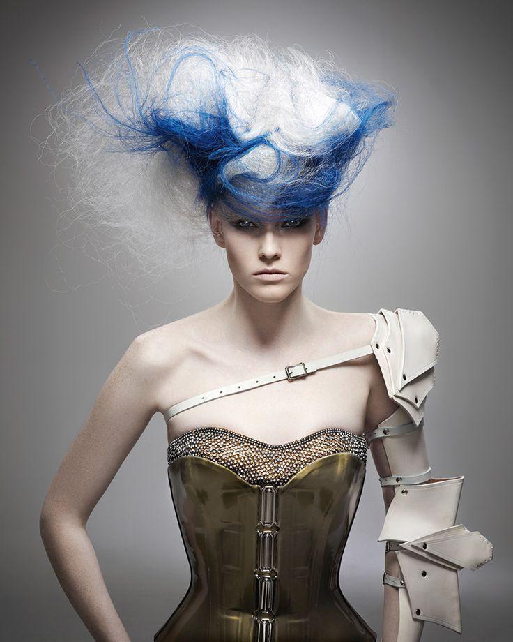 Avant garde hair by Kris Sorbie. Winner 2011 NAHA Master Hairstylist of the Year.
