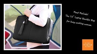 "Meet Melinda! The 15"" Laptop Shoulder Bag for women - YouTube"