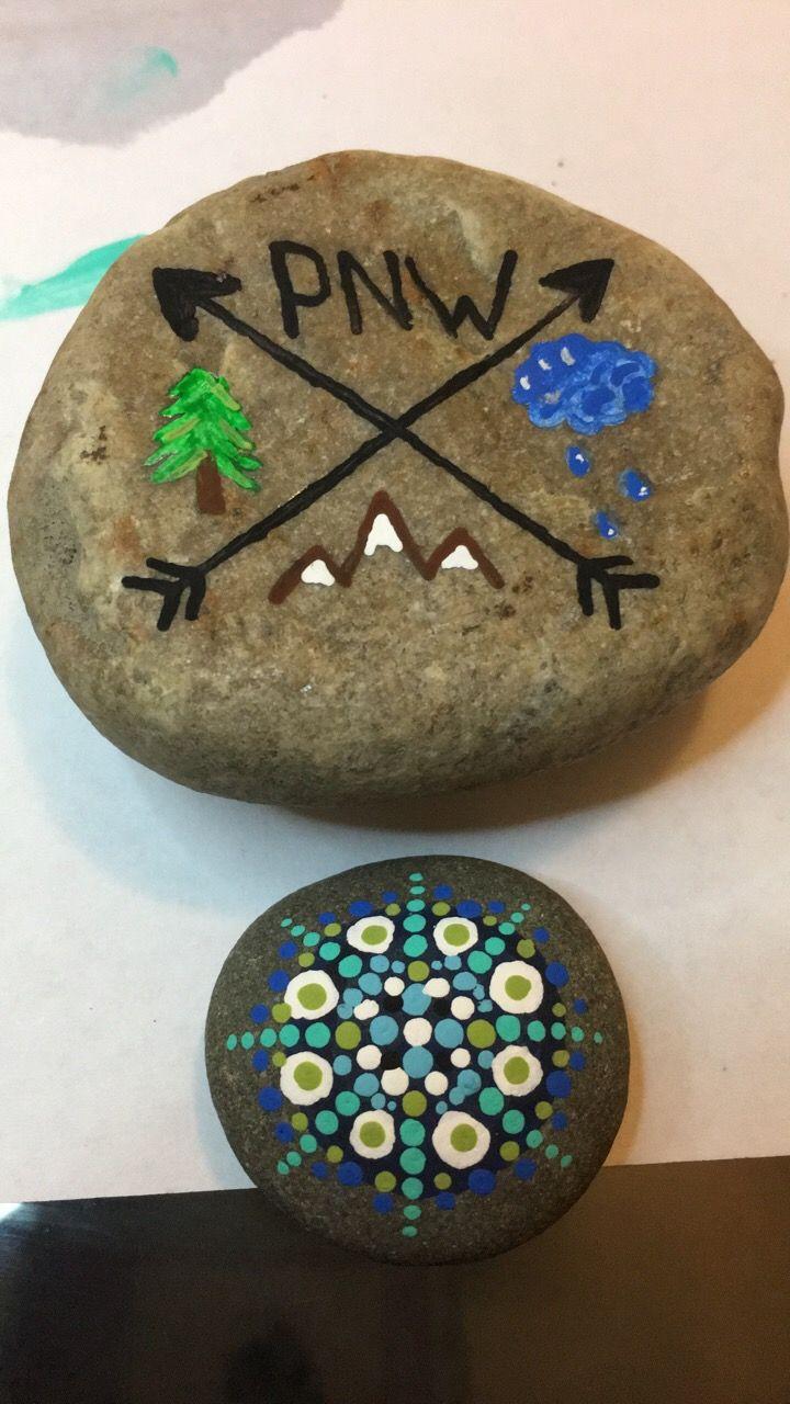 Painted rocks. Kelly Thompson