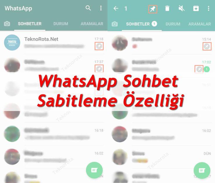 WhatsApptan Sohbet Pinleme Özelliği  Mesajlaşma ve sosyalmedya plartformu olan ve milyonlarca kullanıcısı bulunan WhatsApp her geçen gün yeni özellikler peşinde koşmaya devam ediyor. Bu kez getireceği özellik ise Sohbet pinleme yani sabitleme özelliği olacak. Getireceği özellik diyoruz çünkü şuan WhatsApp beta kullanıcıları tarafından test edilmeye başlandı.