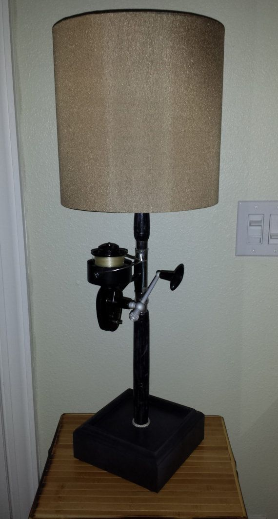 FISHING POLE LAMP Antique Fishing Rod and by SaultydogCreations, $155.00