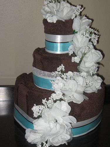Wedding Shower Towel Cake Ideas