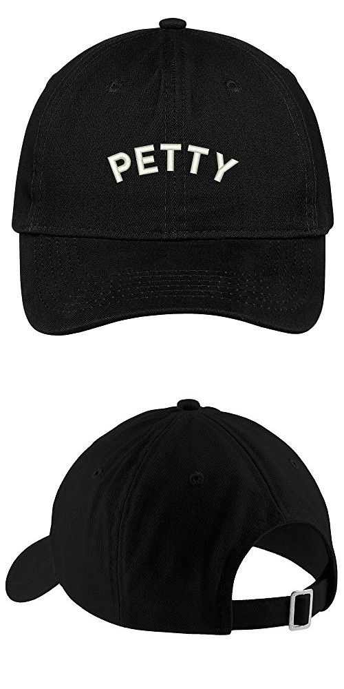 c16696b6849 Petty Embroidered Low Profile Deluxe Cotton Cap Dad Hat - Black ...