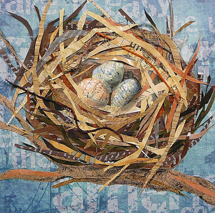 Fargo Eggs Susan Schenk Mixed Media Collage