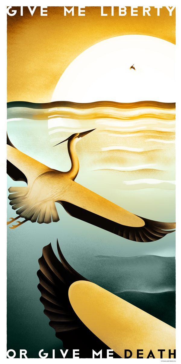 Give Me Liberty Or Give Me Death by Thomas Amby Johansen, via Behance