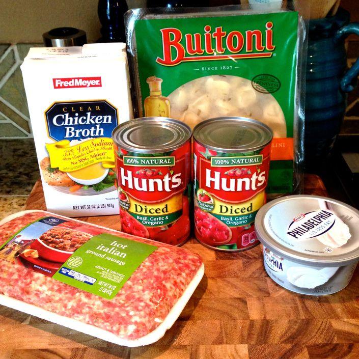 Crock Pot Sausage & Cheese Tortellini.