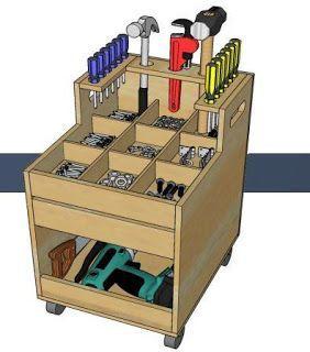 Resultado de imagem para carrinho para ferramentas feito de madeira