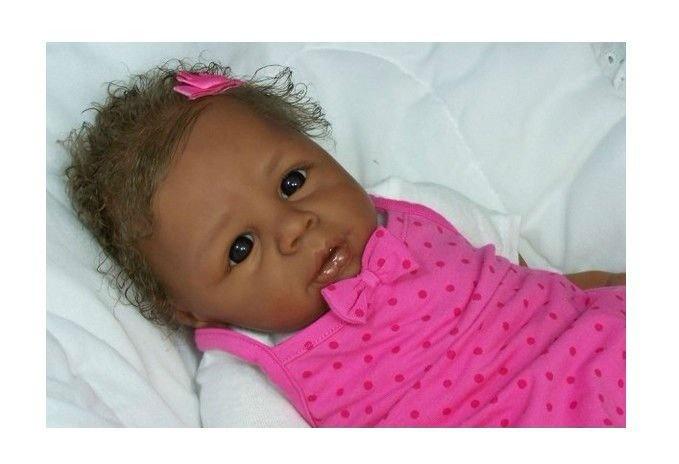 imitated reborn black baby girl doll