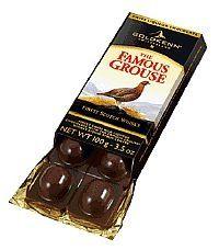 Famous Grouse Whisky Goldkenn Schokolade. Flüssig gefüllte Schweizer Schokolade.