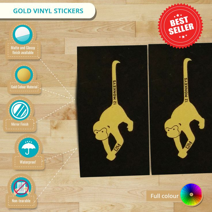 #Infographic: Gold #VinylStickers, your great choice to own luxurious and elegant #stickers.