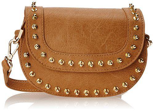 BIG BUDDHA Zola Pin Studded Cross Body Bag in Camel - http://www.bagyou.net/big-buddha-bags/big-buddha-zola-pin-studded-cross-body-bag-in-camel/