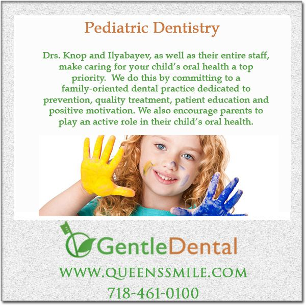 Pediatric dentistry at our Bayside, Queens location. Dental treatments for children often encompass many techniques used in general dental practice. #GentleDental #BaysideDentist #Bayside #QueensSmile #CosmeticDentistry #PediatricDentistry #PediatricDentist