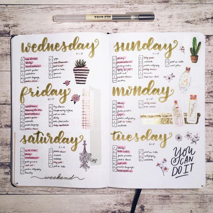 """182 Likes, 6 Comments - Rebeka (@thegoldennabla) on Instagram: """"Another weekly spread and a new backdrop! How do you like it? . . . . . . . . . . #bujogram #bujo…"""""""