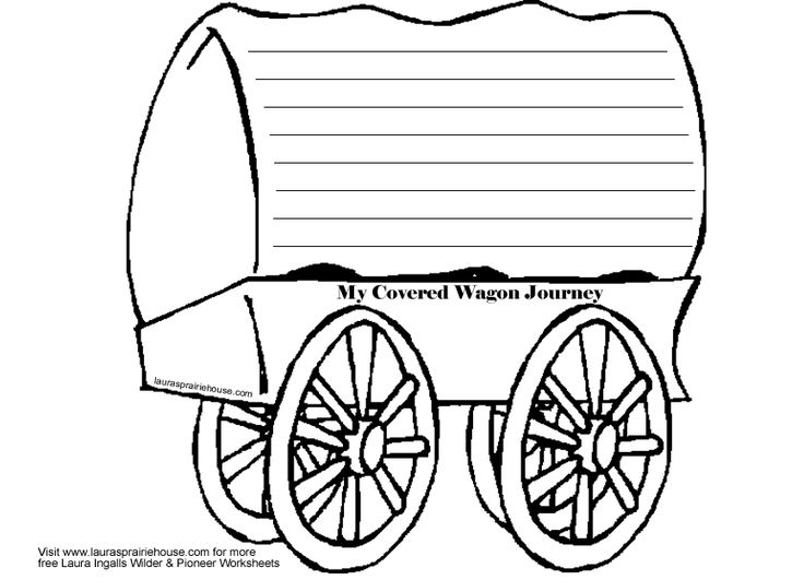 Covered Wagon Journal Activity Printable for Little House on the Prairie