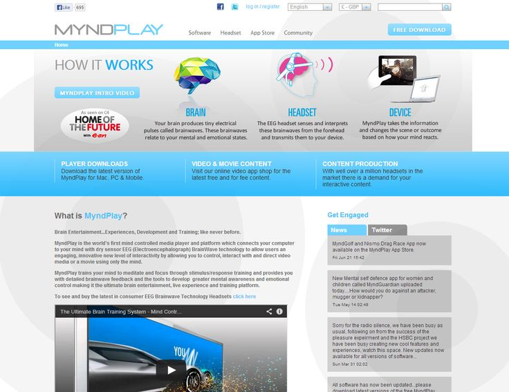 Myndplay - World's first mind controlled media player & platform using brainwaves http://www.myndplay.com #development